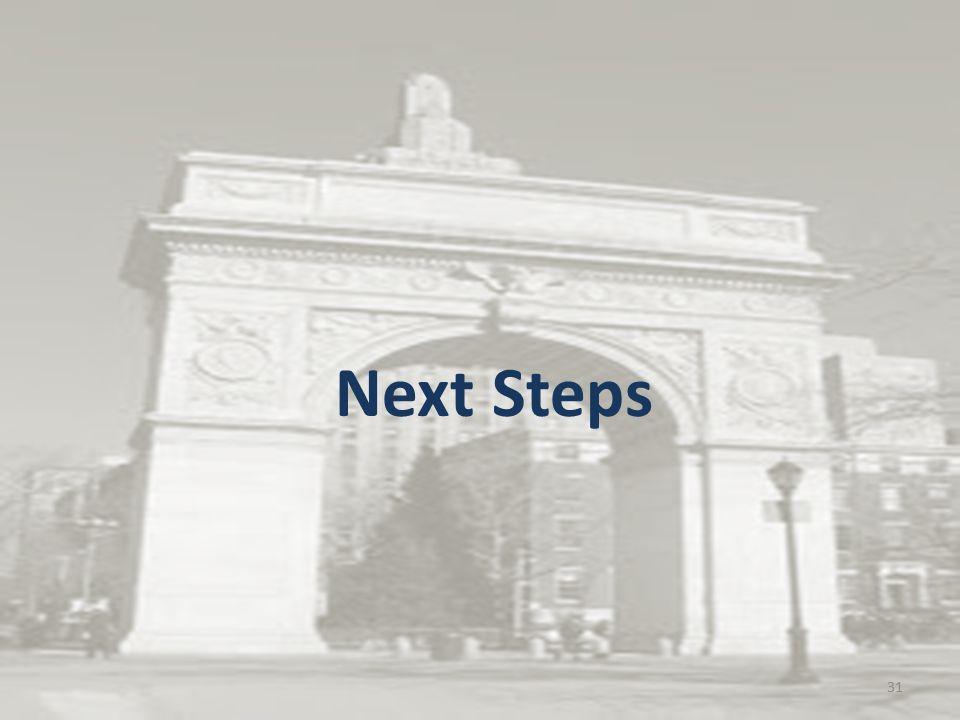 Next Steps 31