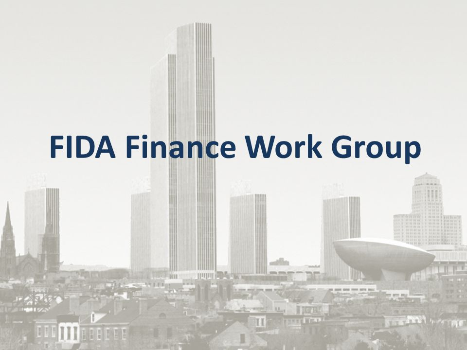 FIDA Finance Work Group Goals The FIDA Finance Work Group has brought together the expertise of 57 participants representing health care organizations, state agencies and other stakeholders The Finance Work Group was created to: 1)Discuss integrated premium development and options for Medicaid rate setting; 2)Identify potential issues that require further discussion with CMS; and 3)Formulate steps that can be taken from a finance and reimbursement perspective to ensure that plans, providers and members are ready for the transition to managed care.