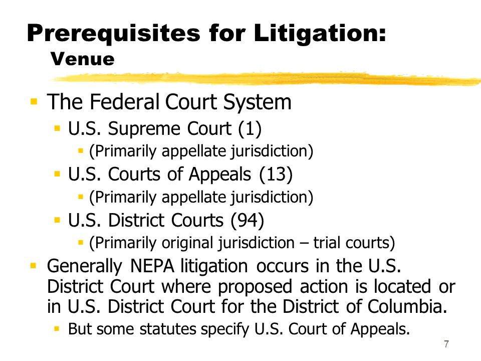 8 Prerequisites for Litigation: Standing  Must be a connection between the plaintiff and the lawsuit.