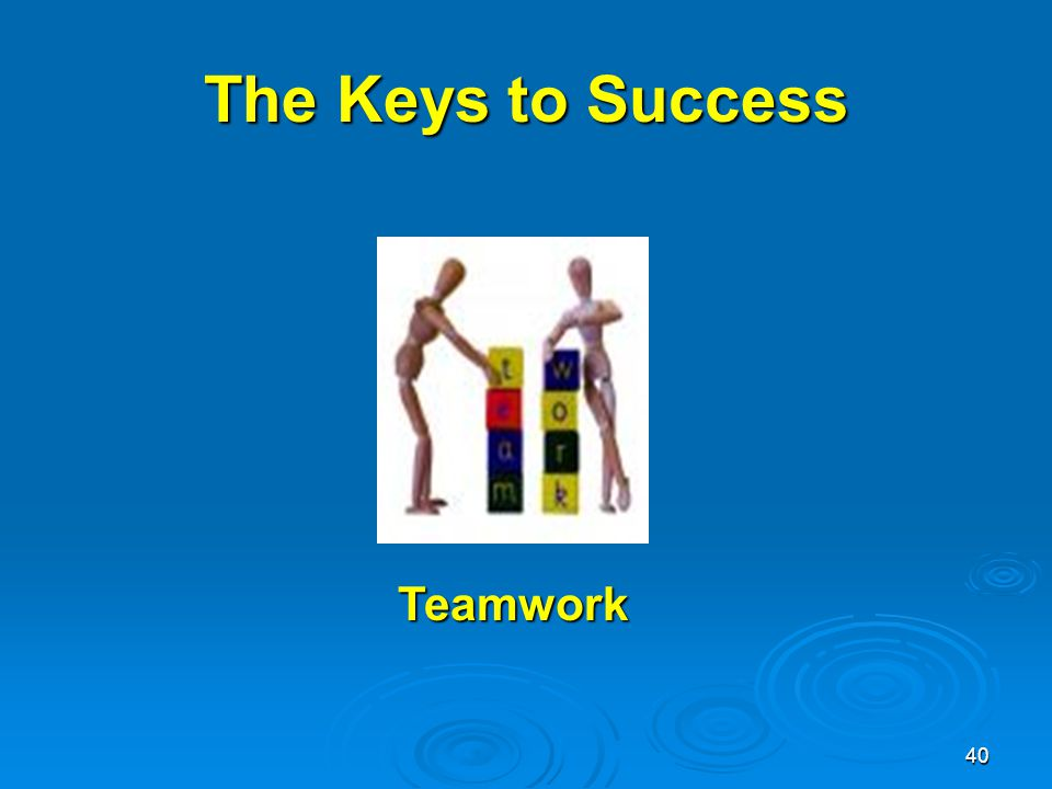 40 Teamwork The Keys to Success