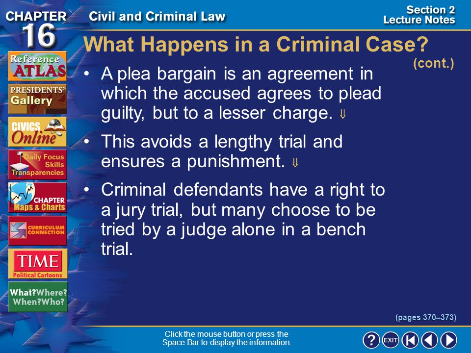 Section 2-15 What Happens in a Criminal Case.