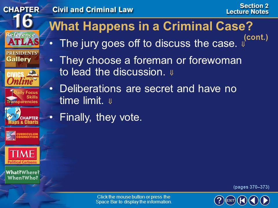 Section 2-19 What Happens in a Criminal Case.