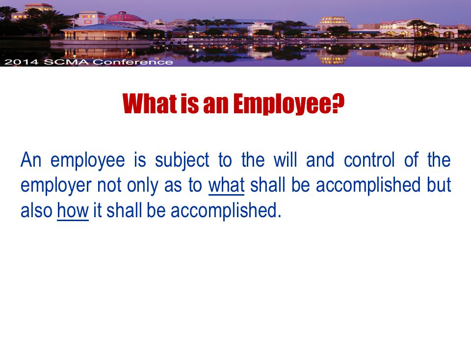 What is an Employee.