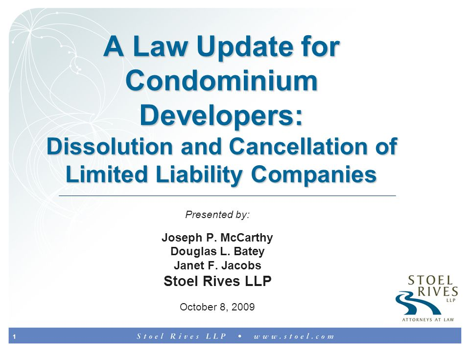 2 Very Short History of Limited Liability Entities Legal protection from business risk was not historically allowed Sole proprietorship and partnerships = personal liability First Business Trusts Act in late 18th century First Corporation Act in North Carolina in 1795 Uniform Limited Partnership Act in 1916 First LLC Act in Wyoming in 1977, Florida in 1982, nowhere else until 1988; everywhere else by 1997 LLCs are new