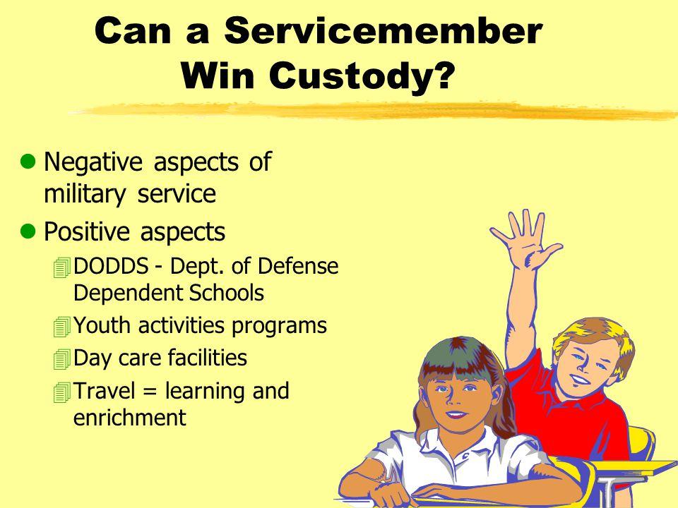 Can a Servicemember Win Custody.