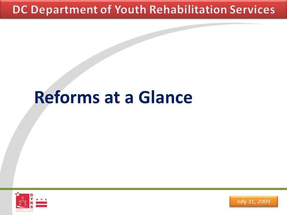 July 31, 2009 Principals of the reform Rehabilitation & Treatment arte far more effective and in the long run much less costly than punishment and incarceration.