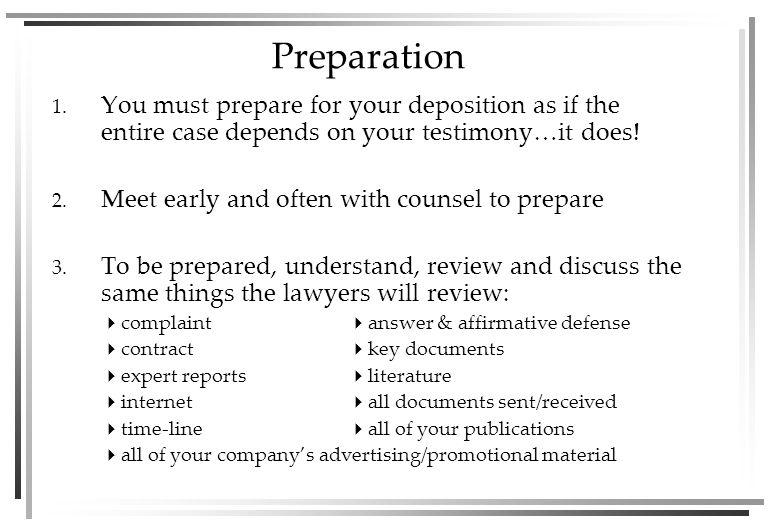 Preparation 1.