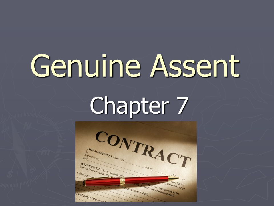 Genuine Assent Chapter 7