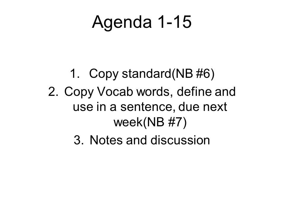 Agenda 1-15 1.