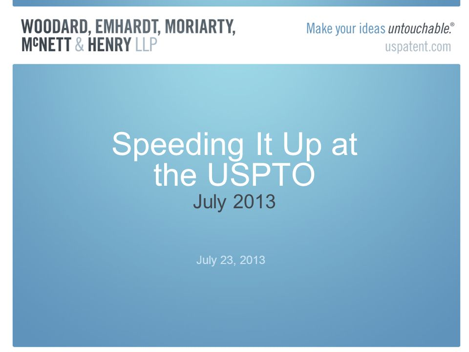 Speeding Up Invalidity
