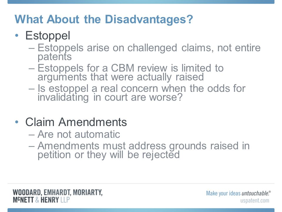 What About the Disadvantages.