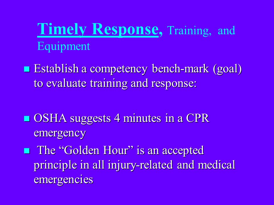 Rescue Vs Response Time... n (4) Assessment Time: Size-up and strategy determination. n (5) Preparation Time: Rescue equipment set-up. n (6) Rescue Ti