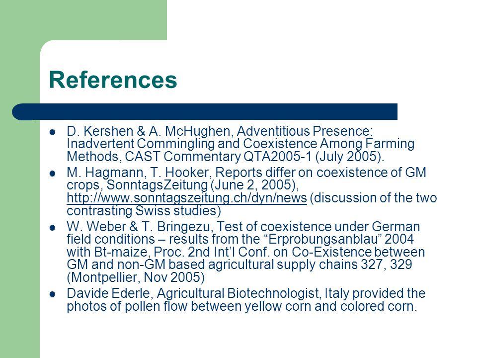 References D. Kershen & A.
