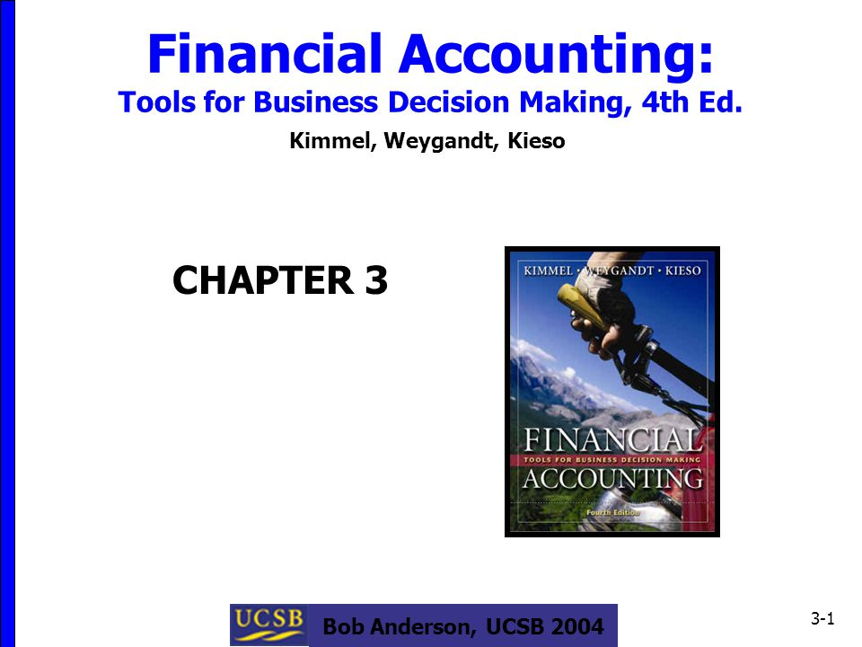 Bob Anderson, UCSB 2004 3-1 Financial Accounting: Tools for Business Decision Making, 4th Ed.