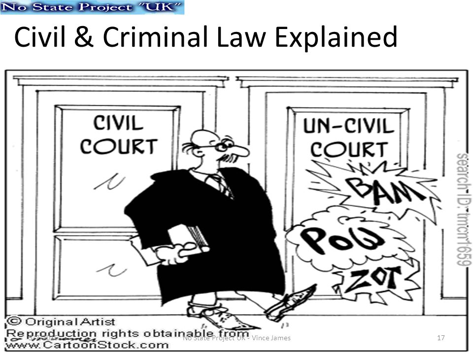Civil & Criminal Law Explained 5/7/201517No State Project UK - Vince James