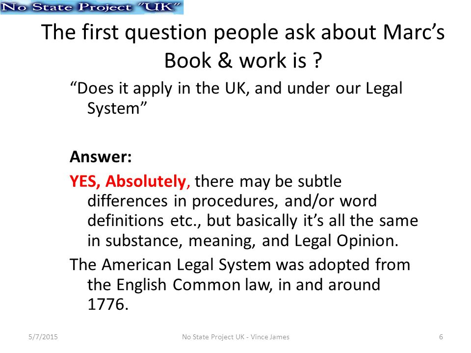 The first question people ask about Marc's Book & work is .