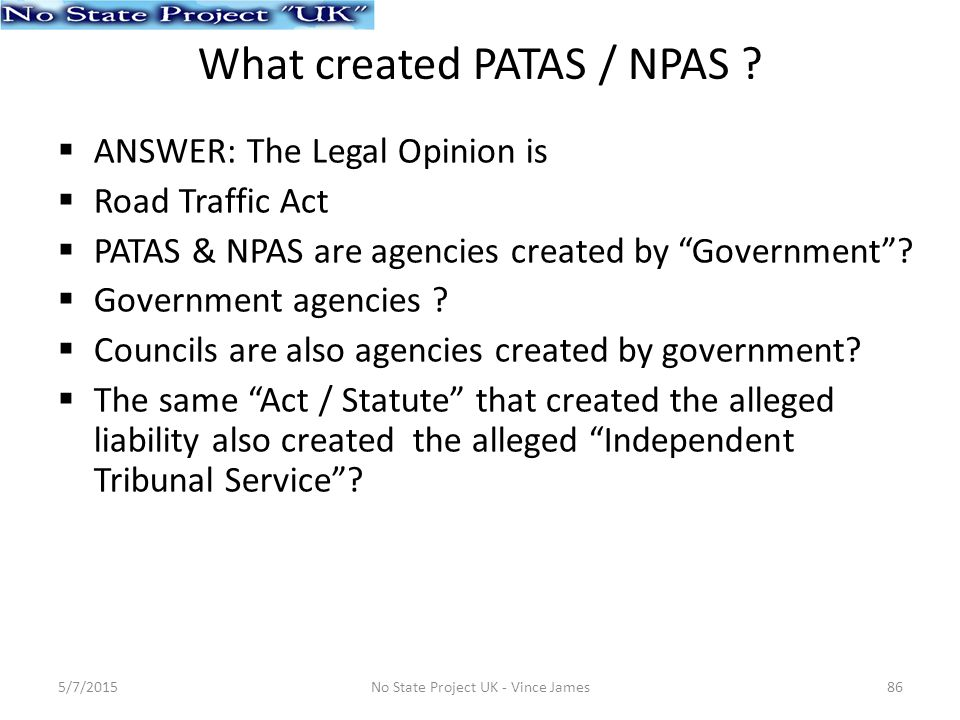 What created PATAS / NPAS .