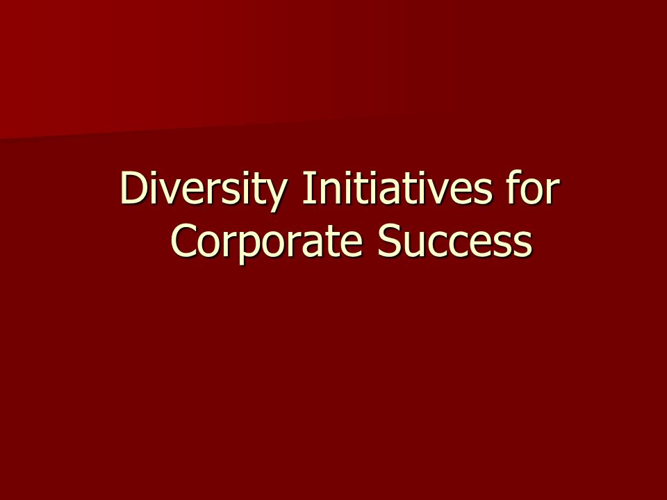 Diversity Initiatives for Corporate Success