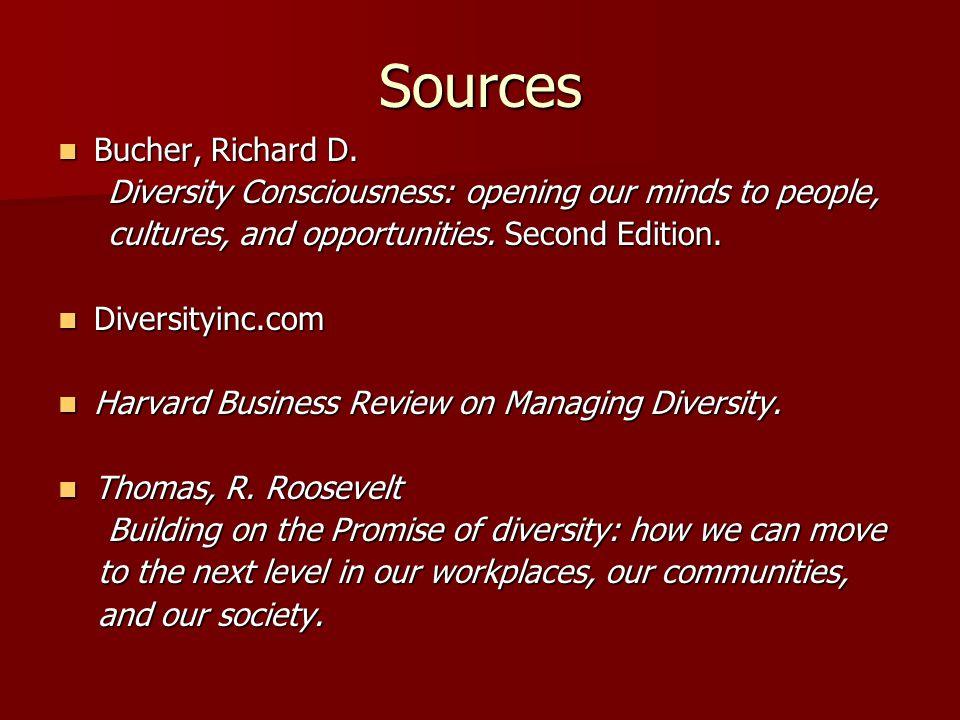 Sources Bucher, Richard D.Bucher, Richard D.