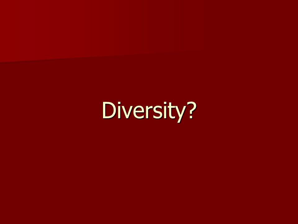 Diversity?