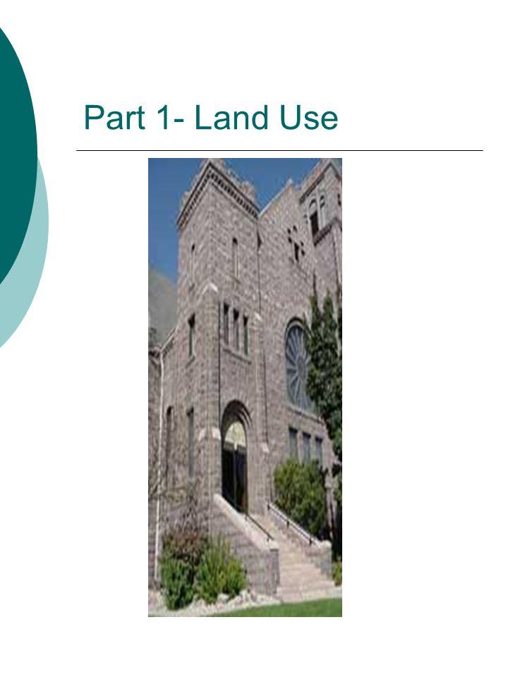 Part 1- Land Use