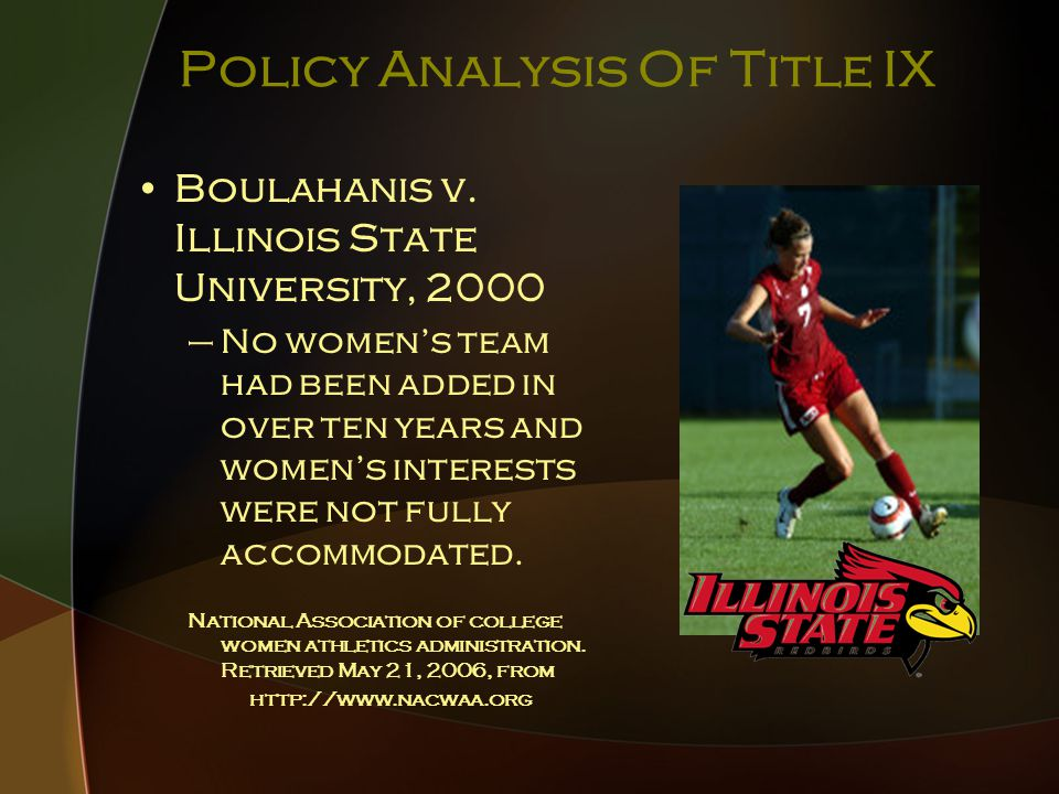 Policy Analysis Of Title IX Boulahanis v.