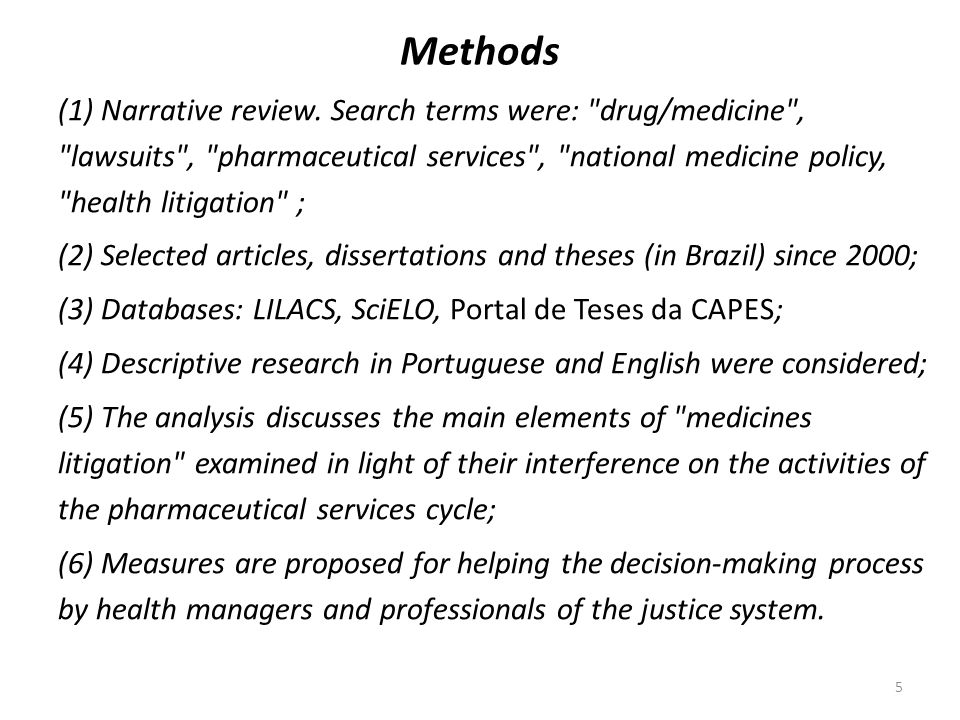 6 Results Health litigation is a multifaceted phenomenon and literature postulates three negative effects.