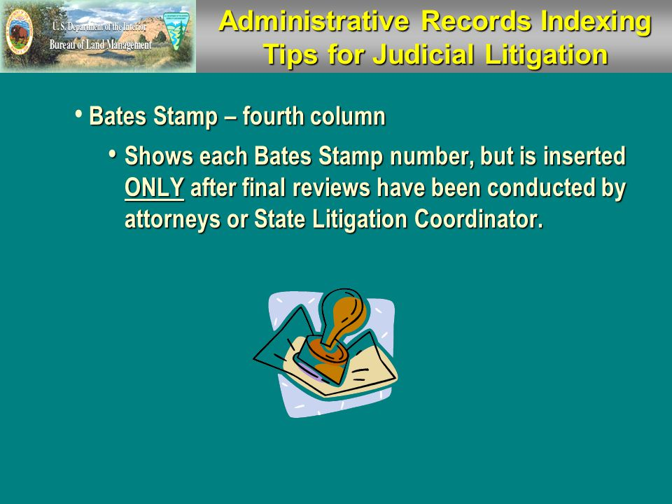 AdministrativeRecords Indexing Tips Administrative Records Indexing Tips For Judicial Litigation  Do Not use MS Excel to index documents.