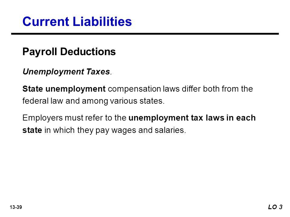 13-39 Unemployment Taxes.