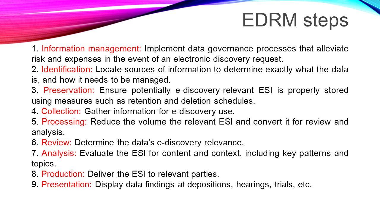 EDRM steps 1.
