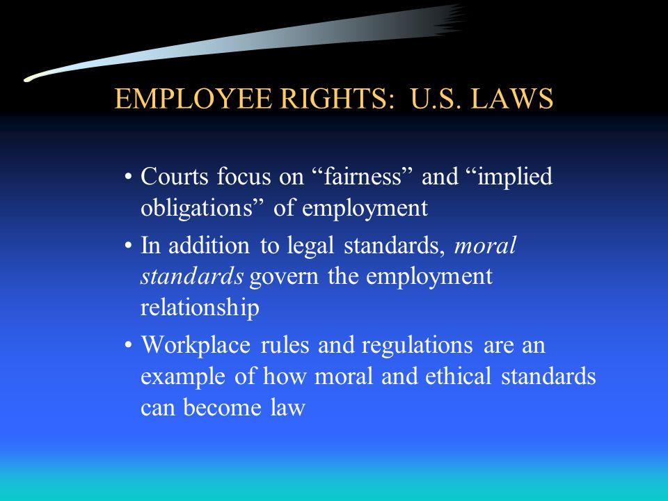 EMPLOYEE RIGHTS: U.S.