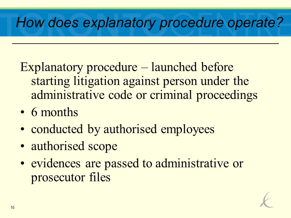 16 How does explanatory procedure operate.