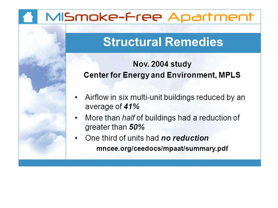 Structural Remedies Nov.