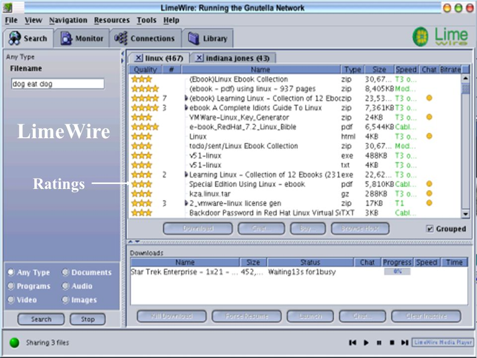 LimeWire Ratings