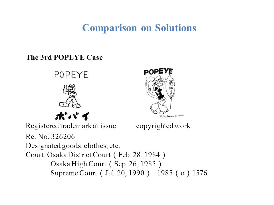Comparison on Solutions In the third place, the time limit of filing an application for dispute adjudication is five years starting from the date of registration of the disputed trademark; while the statute of limitation for bringing a lawsuit on copyright infringement under the Civil Procedural Law is two years starting from the date when the copyright owner knew or should have known about the act of infringement.