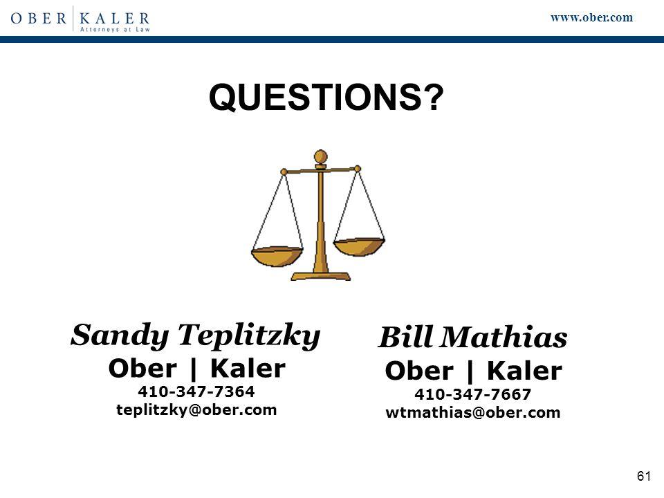 www.ober.com 61 QUESTIONS.