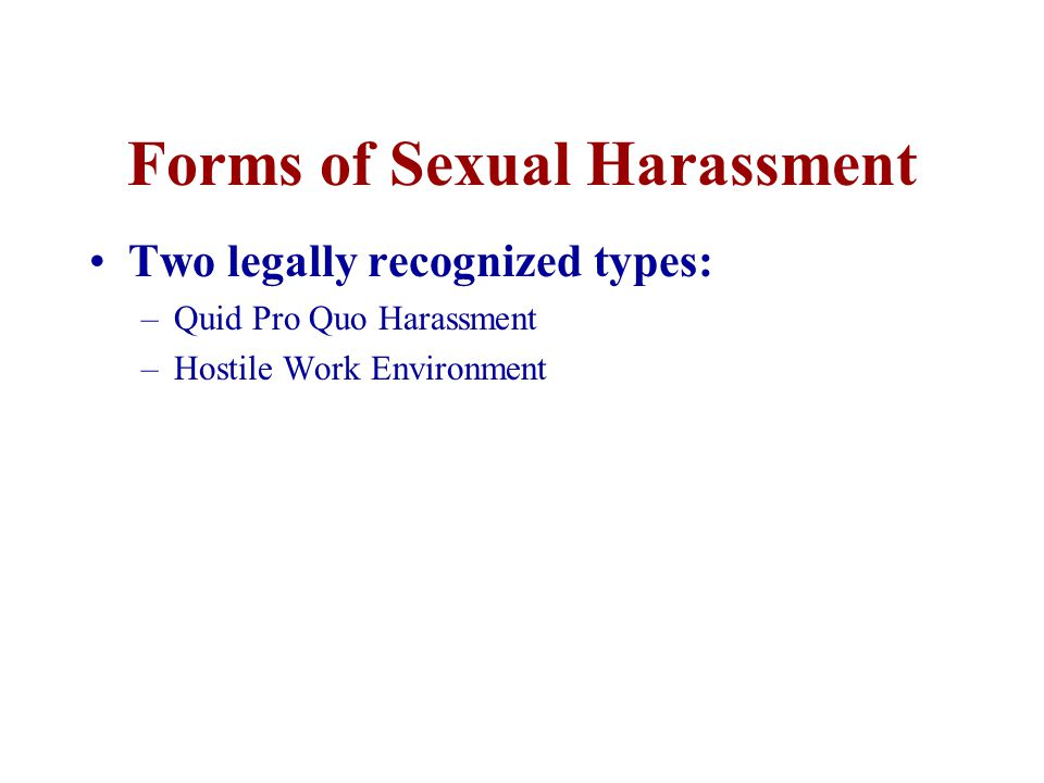 Question True or False –Frequent touching on a person's hand, shoulders or arm could be considered sexual harassment.