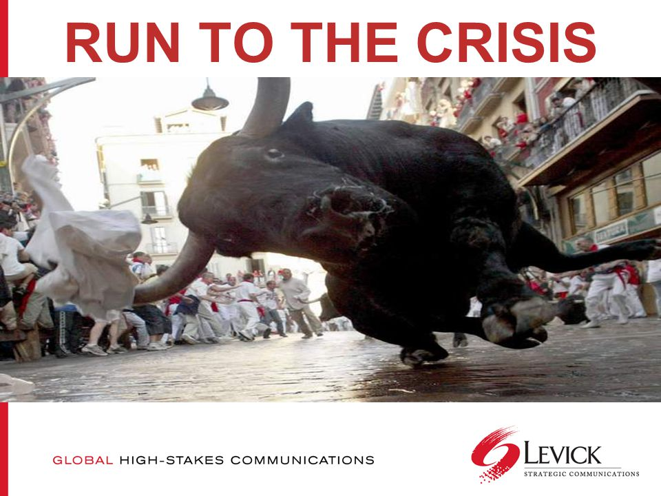 RUN TO THE CRISIS