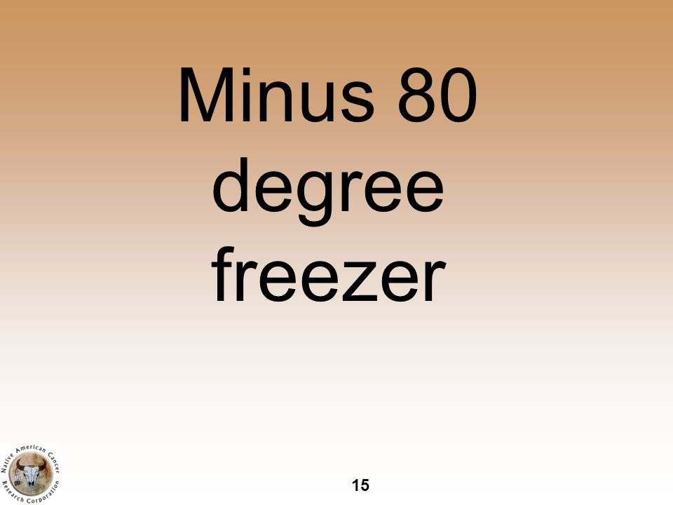 15 Minus 80 degree freezer