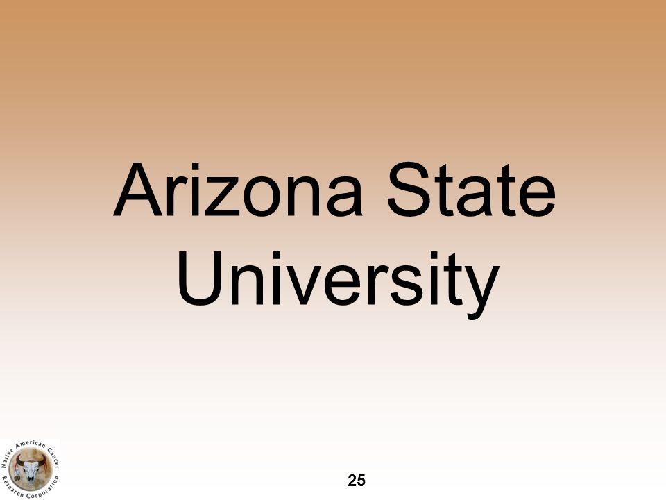 25 Arizona State University