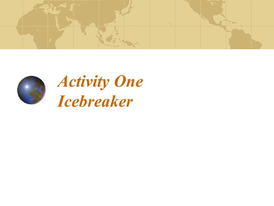 Activity One Icebreaker