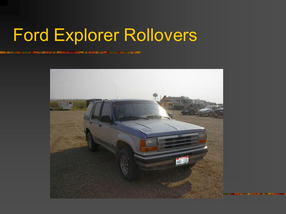 Ford Explorer Rollovers
