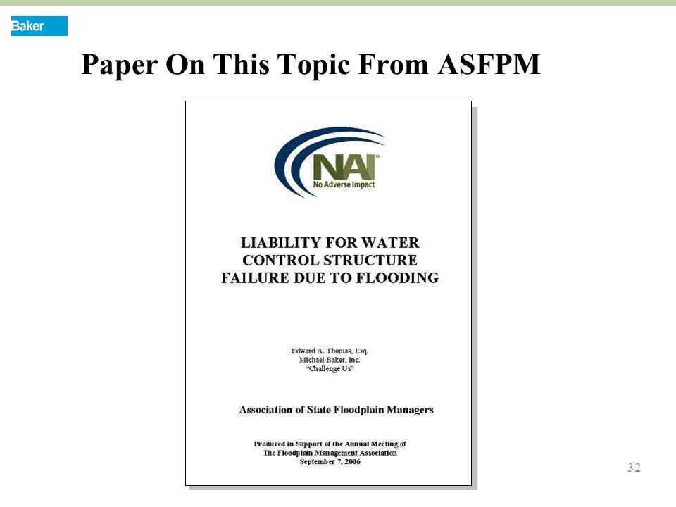 32 Paper On This Topic From ASFPM