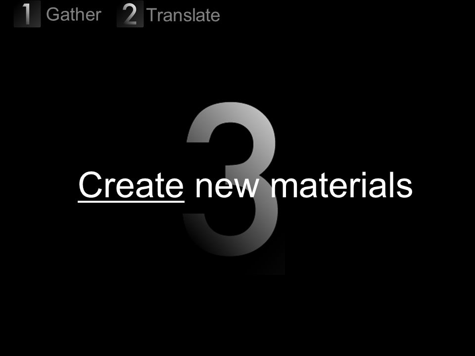 38 Create new materials Gather Translate