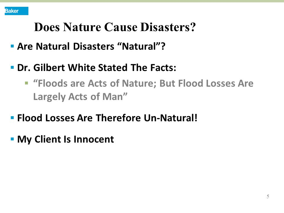 5 Does Nature Cause Disasters.  Are Natural Disasters Natural .