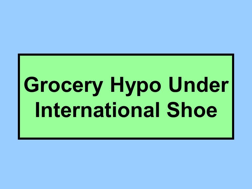 Grocery Hypo Under International Shoe