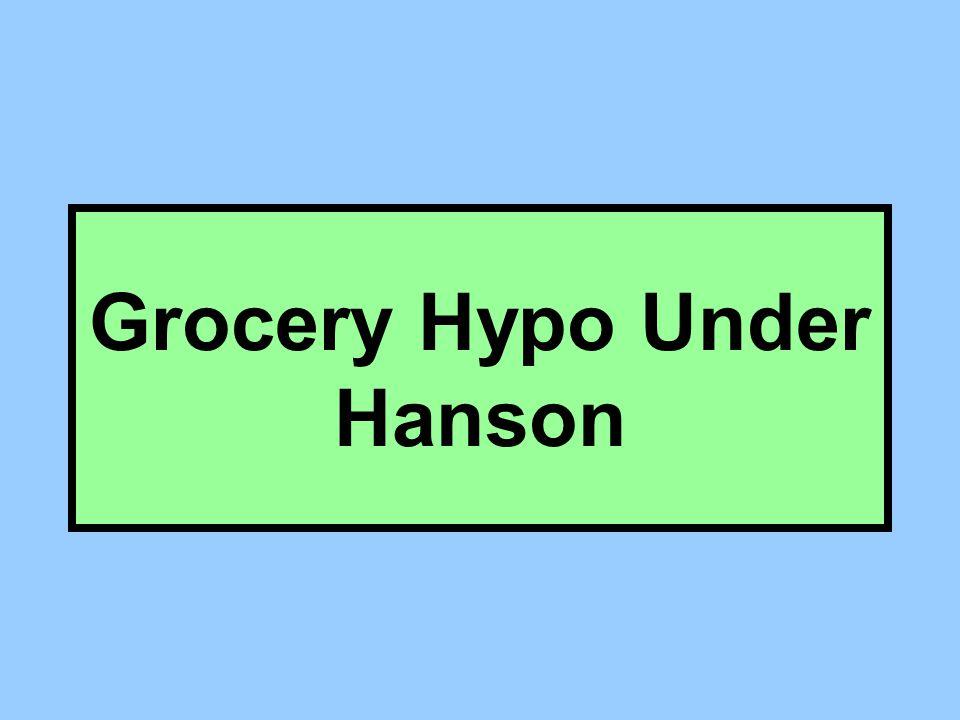 Grocery Hypo Under Hanson