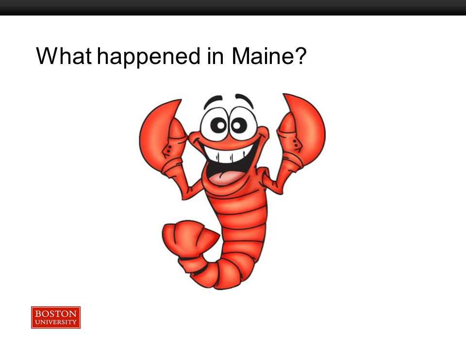 Boston University Slideshow Title Goes Here What happened in Maine?