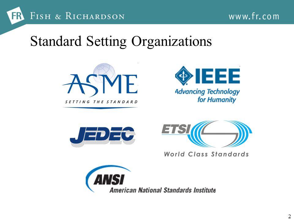2 Standard Setting Organizations