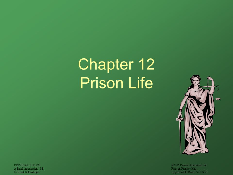 CRIMINAL JUSTICE A Brief Introduction, 6/E by Frank Schmalleger ©2006 Pearson Education, Inc. Pearson Prentice Hall Upper Saddle River, NJ 07458 Chapt